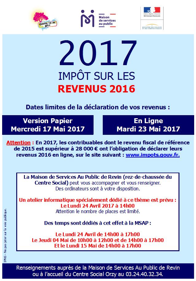 Temps Dedies A La Declaration 2017 Sur Les Revenus 2016 A La Maison